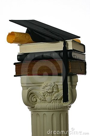 Free Mortar Board And Diploma On Stack Of Books Royalty Free Stock Photo - 4066705