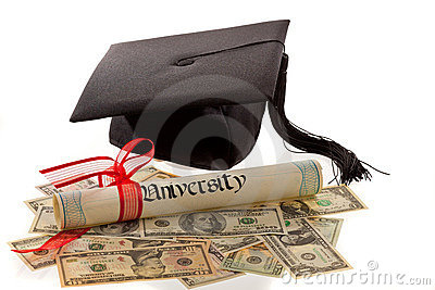 Mortar Board, Diploma, and Currency
