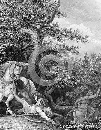 Morte di William Rufus Fotografia Editoriale