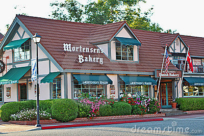 Mortensens Danish Bakery in Solvang, California Editorial Image