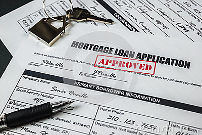 Mortgage Loan Application Approved 004 Stock Photo - Image: 55701652