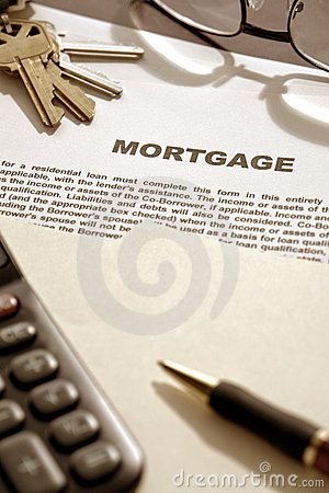 Mortgage Loan Contract Document on Lender Desk