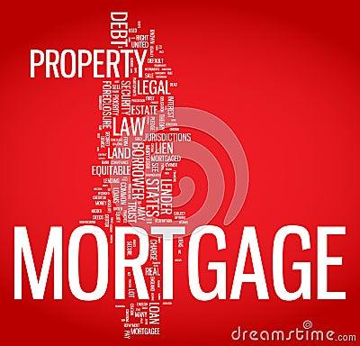 Mortgage word cloud illustration
