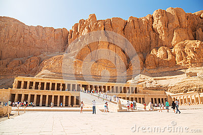 The Mortuary Temple of Queen Hatshepsut Editorial Photography