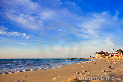 Morze śródziemnomorskie zmierzch