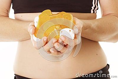 Mãos que prendem prescrições