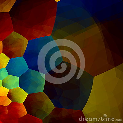 Free Mosaic Abstract Background. Generative Art Red Blue Yellow Color. Design Element In Rainbow Colours. Geometric Colorful Banner. Stock Photos - 48940503