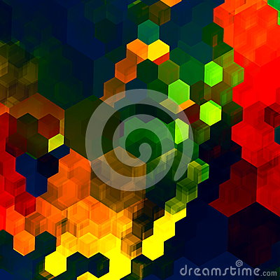 Mosaic Abstract Background. Red Green Blue Colorful Chaotic Pattern. Color Palette. Graphic Art Design. Rainbow Colours. Computer. Stock Photo