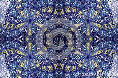 Mosaic blue tile