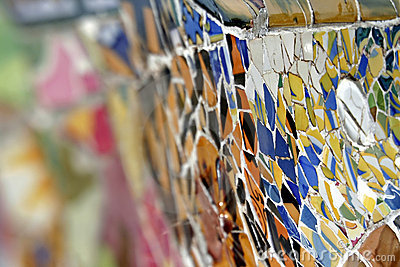 Mosaic of broken tiles