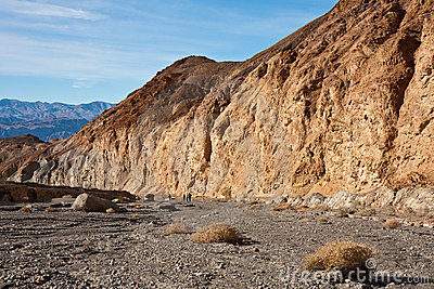 Mosaic Canyon Landscape with Hikers