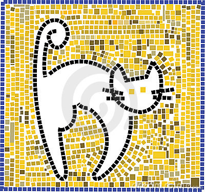 Free Mosaic Cat Royalty Free Stock Image - 553206