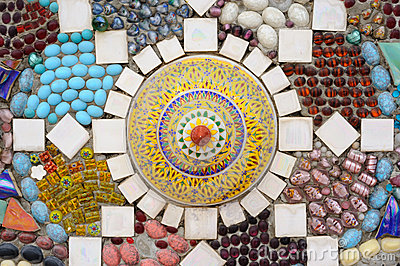 Mosaic ceramic, chinaware abstract.