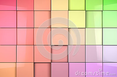 Mosaic cubes background