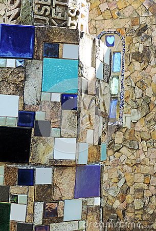 Free Mosaic Detail On Stone Wall Stock Images - 59876794