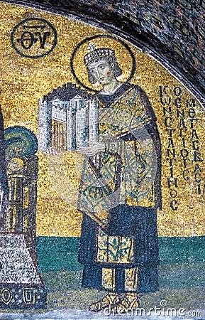 Mosaic of Emperor Constantine