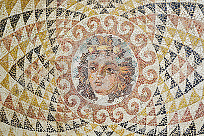 Mosaic with face