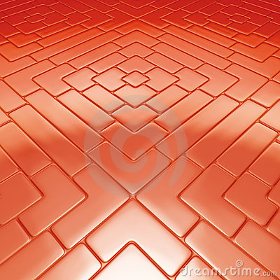 Mosaic floor red