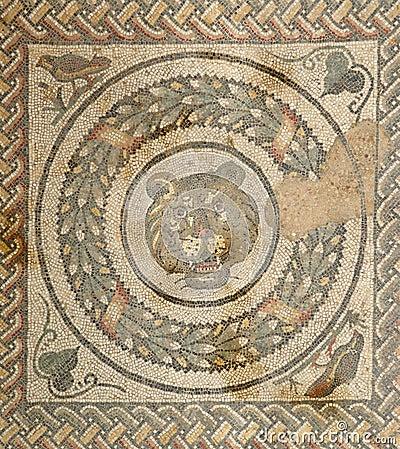 Mosaic fragment Roman Villa