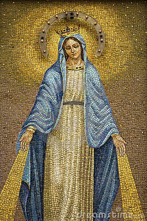 Free Mosaic Of The Virgin Mary Wearing A Crown Royalty Free Stock Photos - 12978298