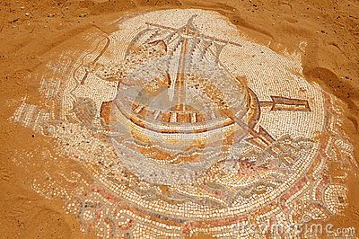 Mosaic of an old boat