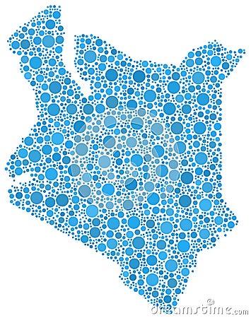 Mosaic outline Kenya Africa