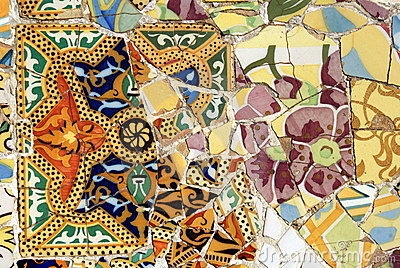 Mosaic in Park Guell, Barcelona
