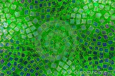 Mosaic Patterns Green Tiles