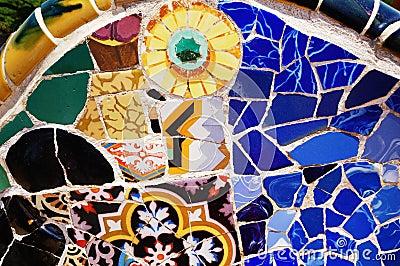 Mosaic Patterns, Parc Guell, Barcelona