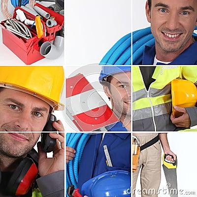 Mosaic of plumber