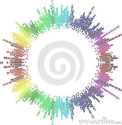 Mosaic Rainbow Circle
