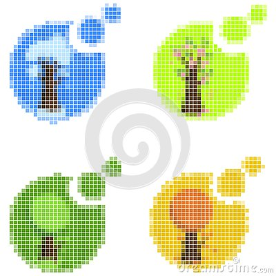 Mosaic seasonal icons