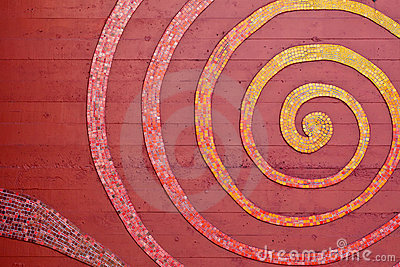 Mosaic Spiral on the Wall
