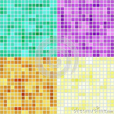 Mosaic square patterns