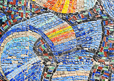 Mosaic texture on wall