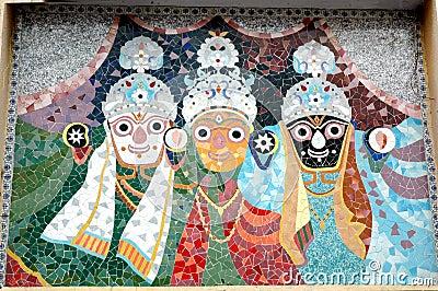 Mosaic tiles art of Jagnnath Temple,Ahmedabad