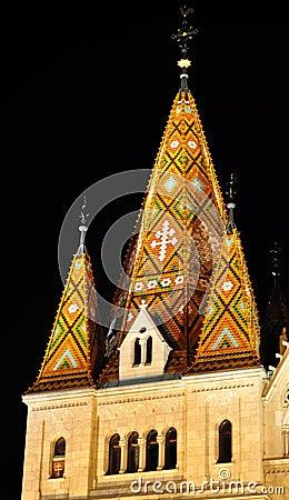 Mosaic tower of Matthias church