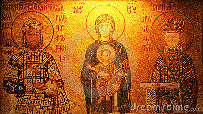 Mosaic of Virgin Mary and Infa