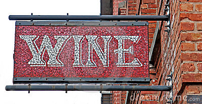 Mosaic Wine Sign