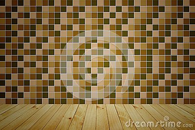 Mosaic wooden room
