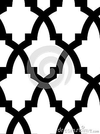 Mosaico árabe inconsútil