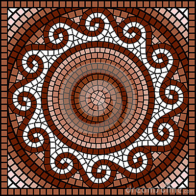 Mosaico griego cl sico stock de ilustraci n imagen 39925726 for El mural de mosaicos
