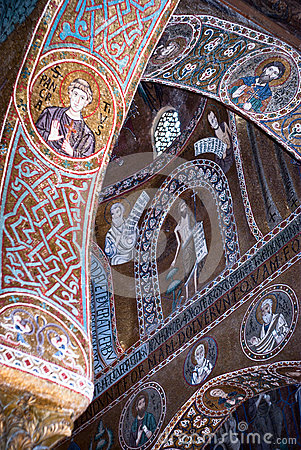 Mosaics from Cappella Palatina. The Palatine Chapel in the Norma