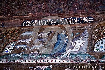 Mosaics from Cappella Palatina. The Palatine Chapel in the Norma