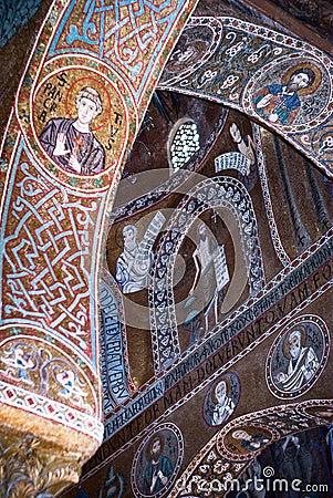 Free Mosaics From Cappella Palatina. The Palatine Chapel In The Norma Stock Photo - 36960460
