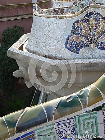 Mosaics, Parc Guell ( Barcelona )