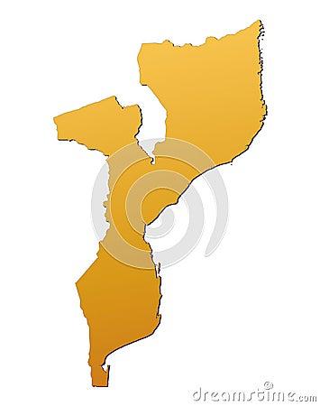 Mosambik-Karte