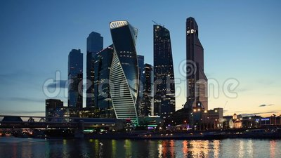 MOSCA - 4 agosto 2016: Centro di affari dell'internazionale di Mosca archivi video