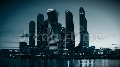 MOSCA - 4 agosto 2016: Centro di affari dell'internazionale di Mosca stock footage