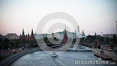Moscou, R?ssia, fotografia do tempo-lapso da cena da rua, fotografia a?rea vídeos de arquivo